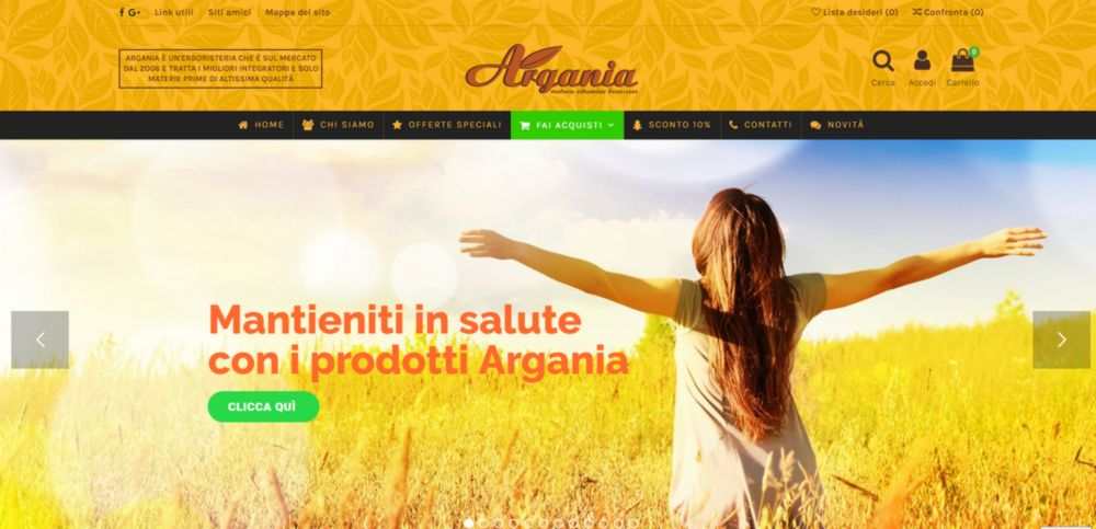 creazione sito web argania