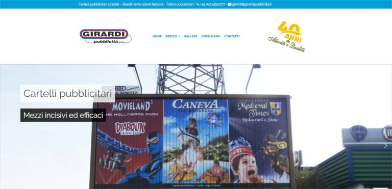 creazione sito web girardi pubblicita