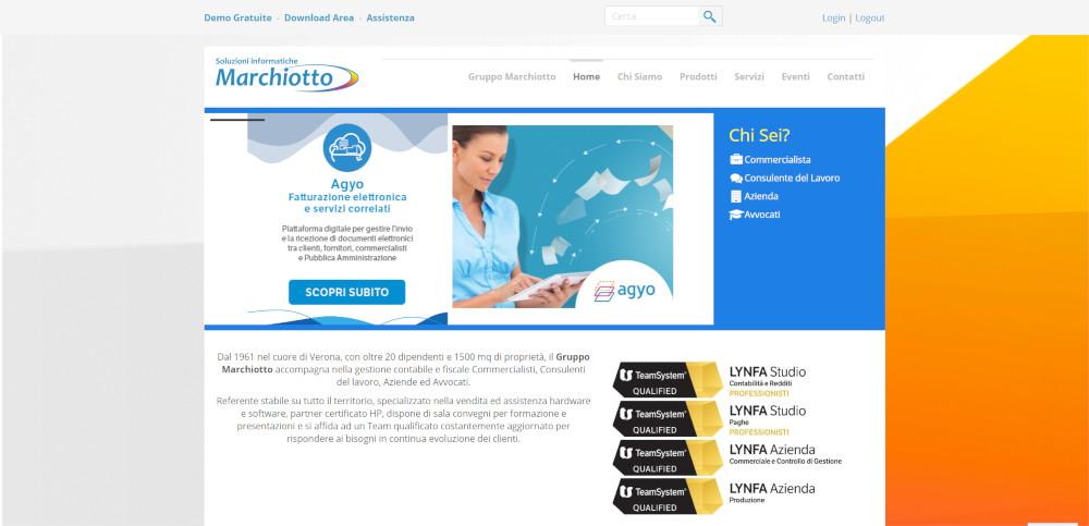 creazione sito web marchiotto solution