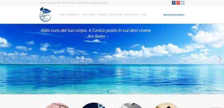 creazione sito web nutrizionista tonani
