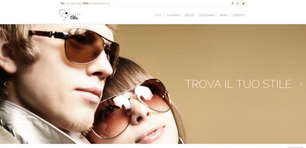 creazione sito web ottica clou